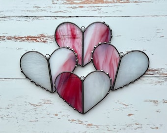 Heart Window Art Sun Catcher one of a kind unique gift idea Red Valentines Gift