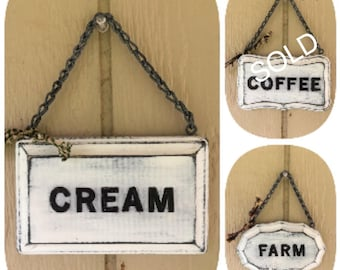 Mini Chunkies Hand-Painted Farmhouse Signs