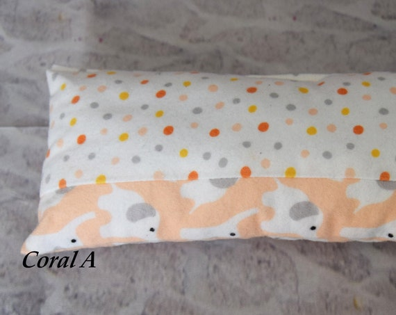 "American Girl Doll Bedding - Organic Doll Bedding - Doll Pillow - Girl Gift - Organic Cotton Flannel Pillow for your 18"" Dolls: Coral"