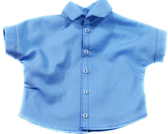 "Short-Sleeved Shirt for 18"" Boy Dolls such as American Girl"