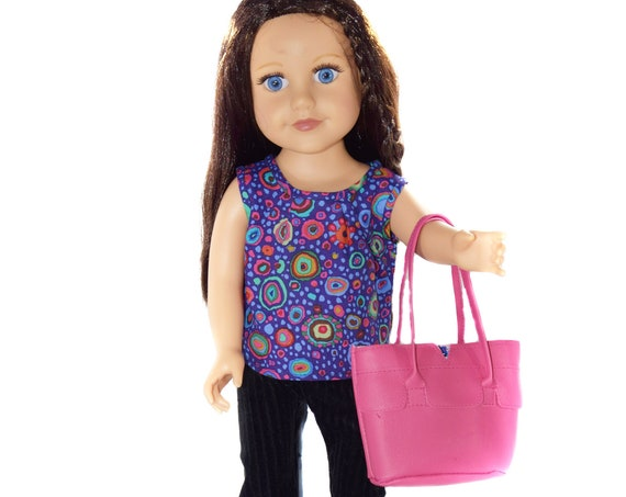 """Hand-Made Sleeveless Cotton Blouse for 18"""" Dolls."""