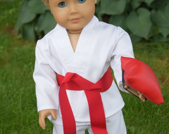"American Girl Doll Clothes - Doll Clothing - Doll Uniform - Girl Gift - Marshall Arts Uniform (Karate gi) for 18"" Dolls."