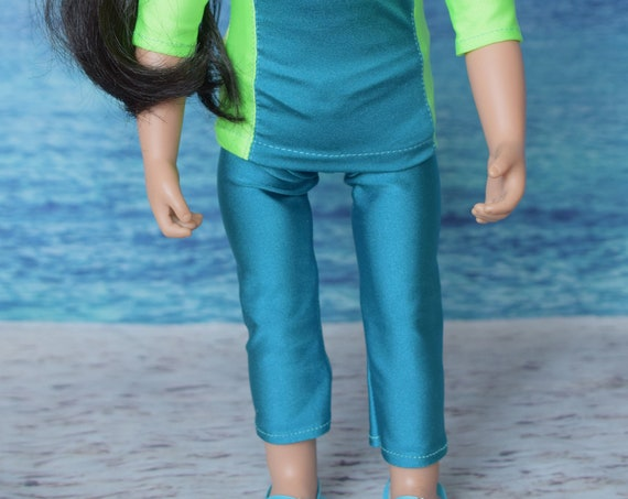 "American Girl Doll Clothes - Leggings for 18"" Dolls: Turquoise. A104"