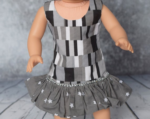 "American Girl Doll Clothes - Doll Dress - Girl Gift - Ruffled Sheath Dress for 18"" Dolls"