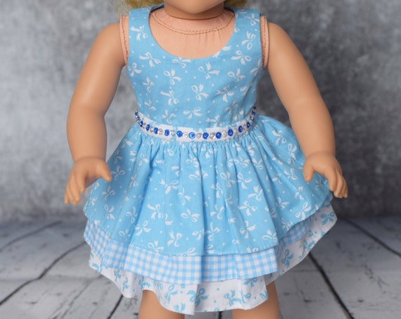 American Girl Doll Clothes - Doll Dress - Girl Gift - Party Dress with 3-tiered Skirt for 18-inch Dolls. A109 A119