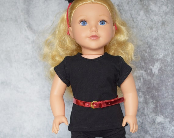 Quality Hand-made Cotton/Spandex T-shirt and Leggings for 18-inch Dolls such as American Girl, Doll Clothing, Girl Gift, Wardrobe Basics