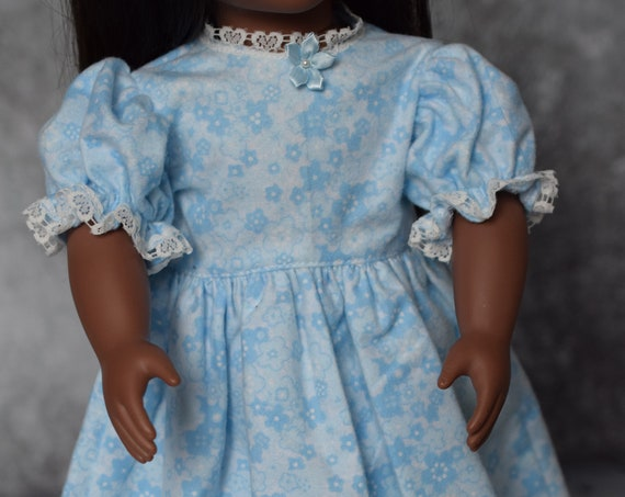 "American Girl Doll Clothing - Doll Clothing - Girl Gift - Full-length Cotton Flannel Nightgowns for 18"" Dolls. A126"