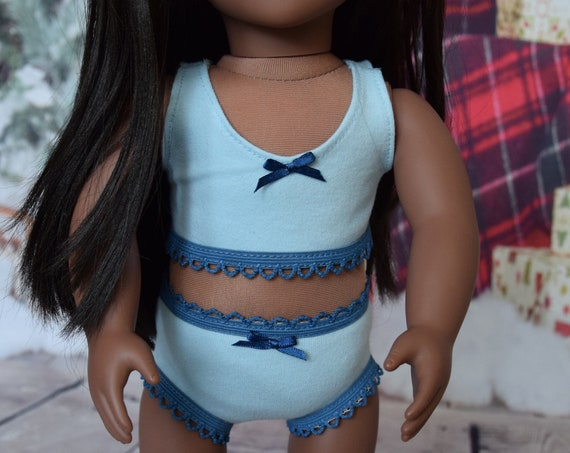 "American Girl Doll Clothing - Doll Lingerie - Organic Cotton Bralette and Undies Sets for 18"" Dolls"
