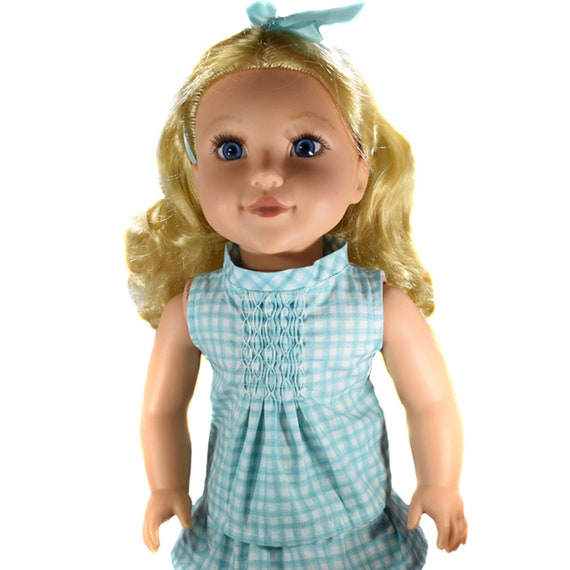 "Organic Cotton Sleeveless Blouses (Shirts) for 18"" Dolls. A122"