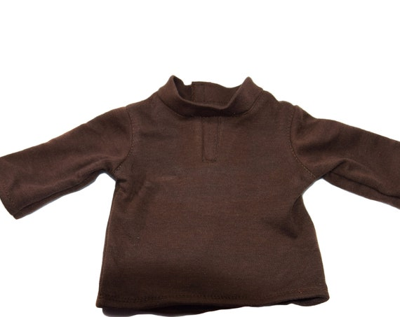 "American Girl Doll Clothing for Boys - Girl Gift - Cotton Henley (T-shirt) for 18"" Boy Dolls. A108"