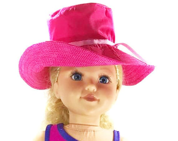 "American Girl Doll Accessories - Summer Hat - Girl Gift - Summer Accessories (Hat, Sandals, and Bag) for 18"" Dolls. A104"