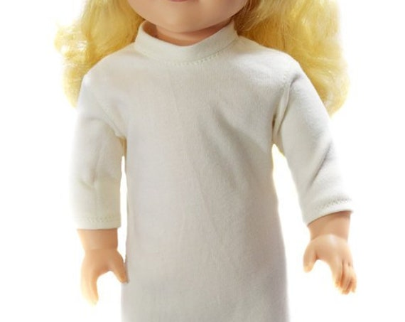 """Organic Cotton Knit Nightie for American Girl and Other 18"""" Dolls"""