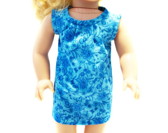 "Cotton Aloha Dress for 18"" Dolls."