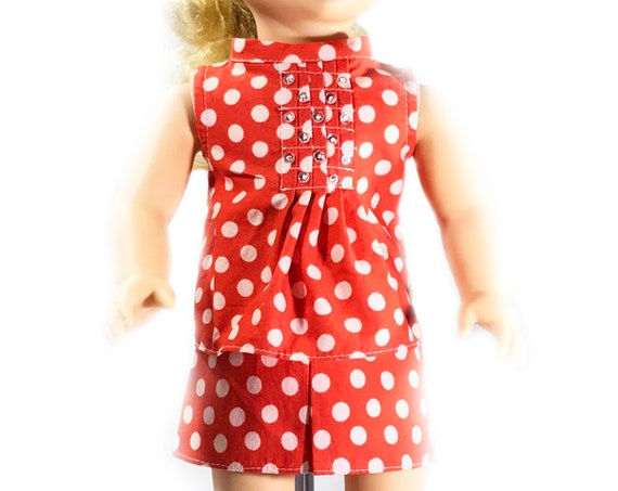 "Two-piece Outfit (Blouse and Skirt) for 18"" Dolls. A118"
