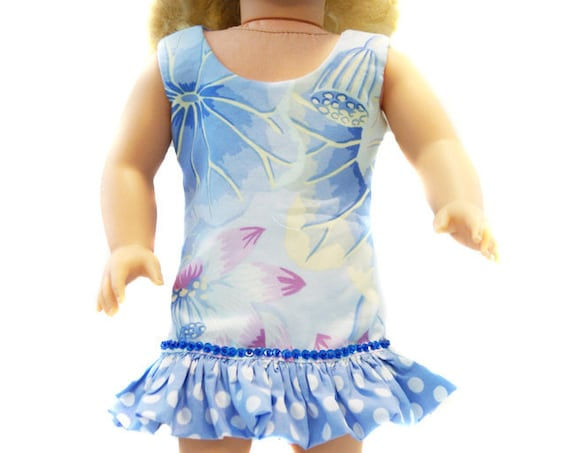 Ruffled Sheath Dress with Sequin Detail for 18-inch Dolls. A111