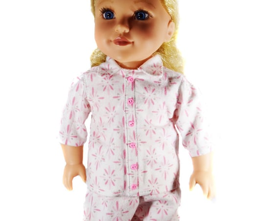 "Organic Cotton Flannel Pajamas for American Girl and Other 18"" Dolls"