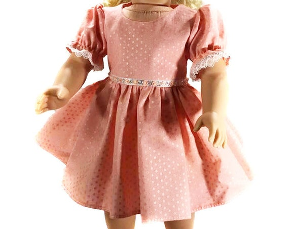 "Coral Party Dress for 18"" Dolls. A114"
