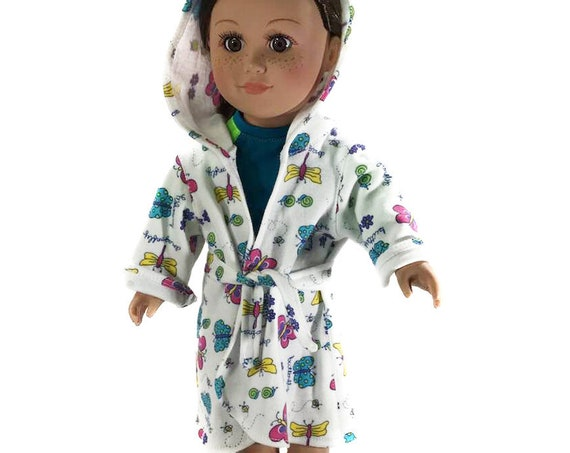 "Cotton Swimsuit Cover-up (Robe) for 18"" Dolls. A104"