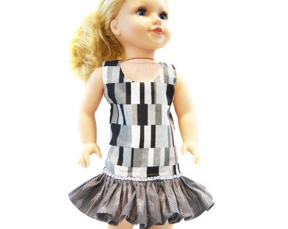 """Ruffled Sheath Dress for 18"""" Dolls"""