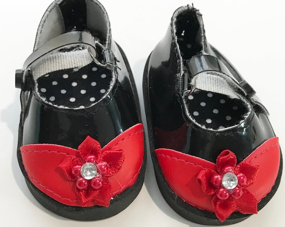 """Mary Jane Shoes with Toe Detail for 18"""" Dolls. A103 A115 A118 A127"""