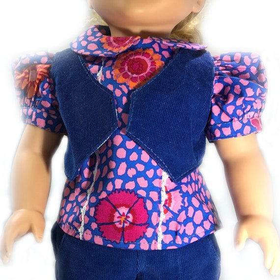 "3-piece Pant/Bolero/Blouse Outfit for American Girl and Other 18"" Dolls"