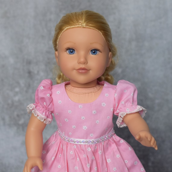 "American Girl Doll Clothes - Doll Dress - Girl Gift - Hand-made Party Dress for 18"" Dolls"