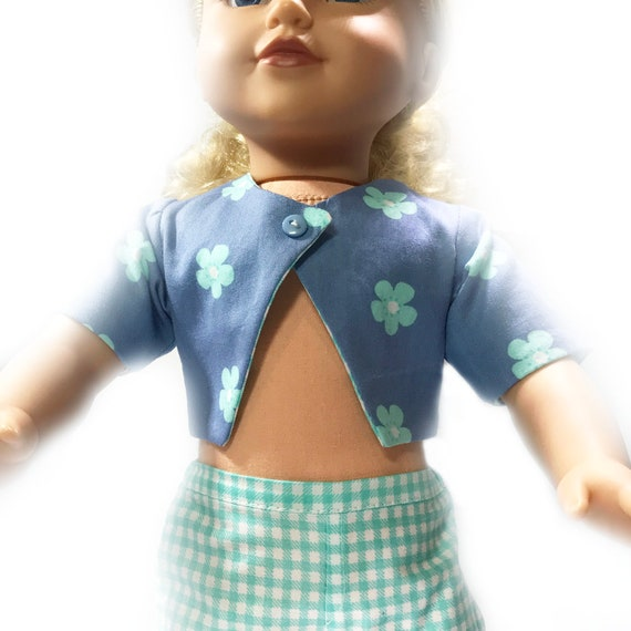 "Cotton Boleros (Short-sleeved Jackets) for 18"" Dolls. A109 A119"