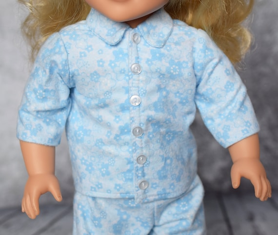 American Girl Doll Clothes - Doll Clothing - Doll Pajamas - Girl Gift - Cotton Flannel Pajamas (Sleepwear) for 18-inch Dolls. A129