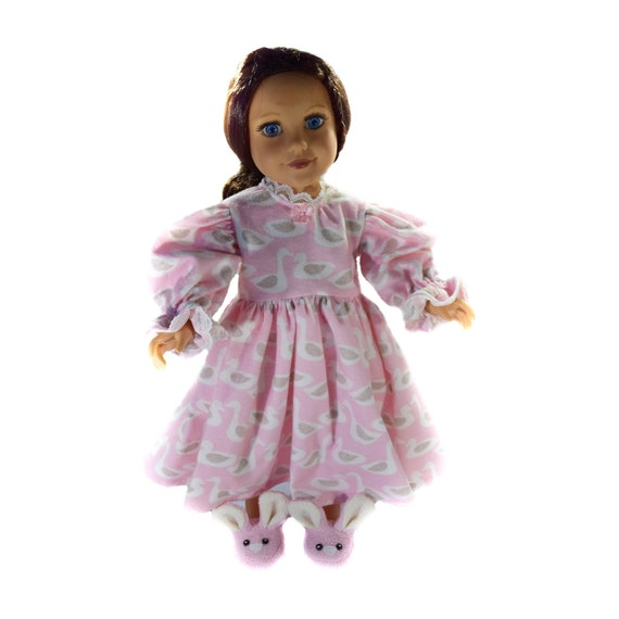 Organic Cotton Flannel Nightgown for 18-inch Dolls. A131