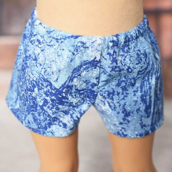 "American Girl Doll Clothing - Doll Boxer Shorts - Girl Gifts - Cotton Boxer Shorts / Bathing Trunks for 18"" Boy Dolls."