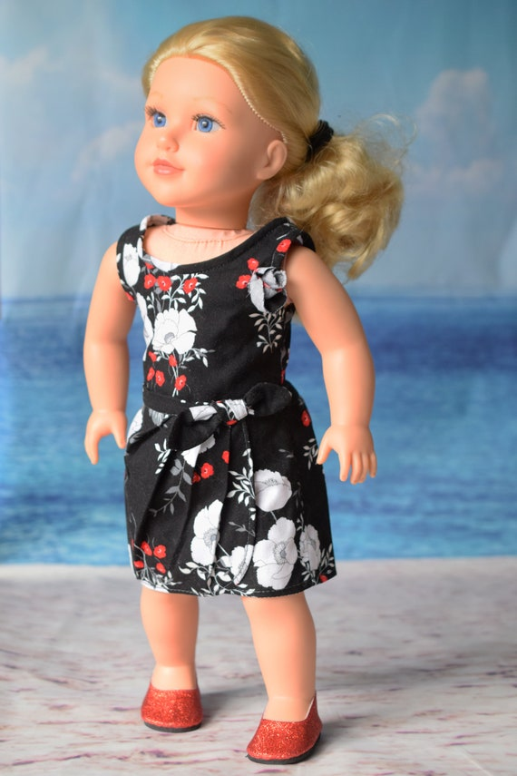 """Cotton Doll Outfit, 2-piece Blouse & Skirt Outfit, Hand-made Sleeveless Doll Blouse and Sarong Skirt, Fits Popular 18"""" Dolls, Girl Gift"""