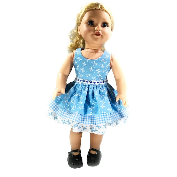 Party Dress with 3-tiered Skirt for American Girl and Other 18-inch Dolls