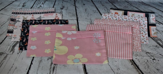 Re-usable Cotton Mask Pouches for Purse or Briefcase for Children and the Young at Heart
