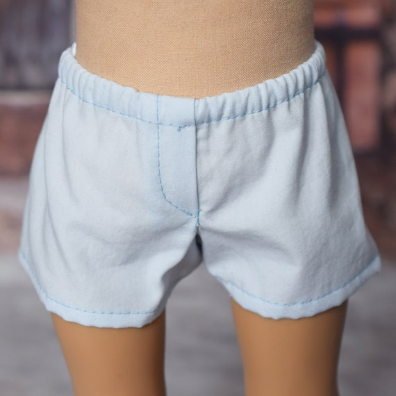 "Cotton Boy Doll Boxer Shorts, Quality Hand-made Bathing Trunks for 18"" Boy Dolls, Boy Underwear, American Girl Doll Clothing, Girl Gift"