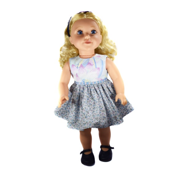 "Cotton Party Dresses with Sequin Detail for 18"" Dolls, A115"