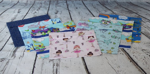 Re-usable Cotton Mask Pouches for Purse or Briefcase for Children