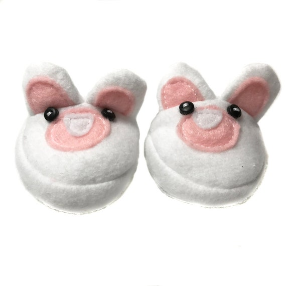 "Cozy Cotton Slippers - Bunnies, Bears, Cats - for 18"" Dolls. A106 A126 A129"