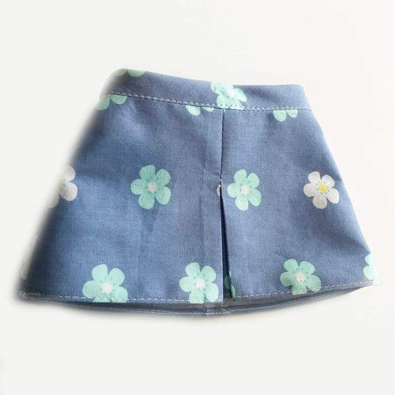 "Fitted Skirt with Front Pleat for 18"" Dolls. A109 A119"