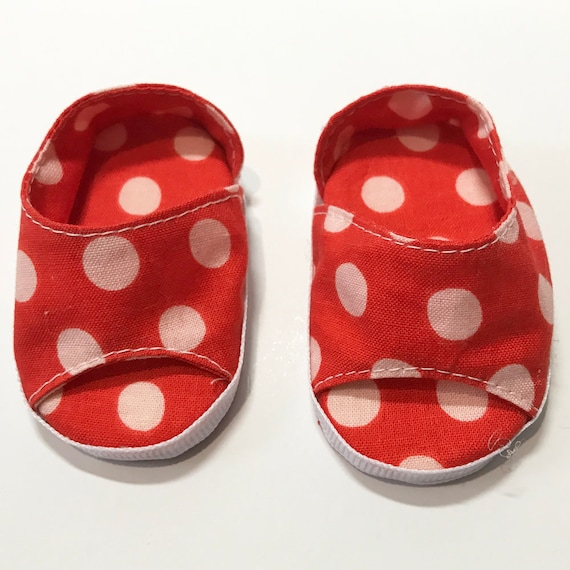 "Cotton Slip-on Open-Toe Shoes for 18"" Dolls. A115 A118 A119"