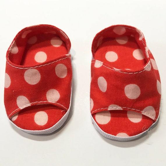 "American Girl Doll Accessories - Doll Shoes - Girl Gift - Cotton Slip-on Open-Toe Shoes for 18"" Dolls. A115 A118 A119"