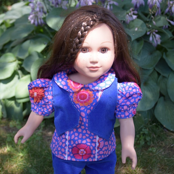 "American Girl Doll Clothing - Doll Clothing - Girl Gift - 3-piece Outfit (Pants, Blouse and Vest) for 18"" Dolls. A123"