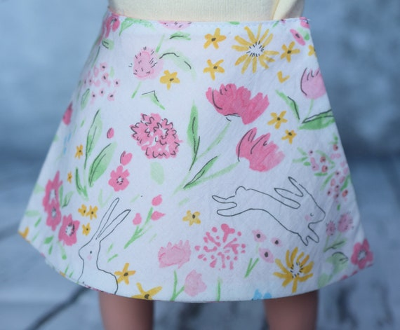 "American Girl Doll Clothing - Doll Skirt - Girl Gifts - Hand-Made Reversible Wrap-Around Skirt for 18"" Dolls. A125"