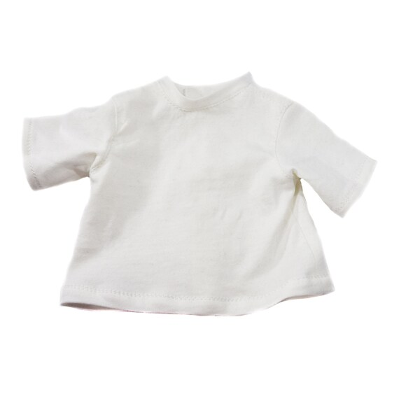 "Hand-Made Cotton Crew-Neck Short-Sleeve T-shirt for 18"" Dolls. A127"