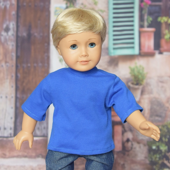 "American Girl Doll Clothing - Doll Clothing - Girl Gift - Cotton Short Sleeve Crewneck T-Shirt for Boy or Girl 18"" Dolls"