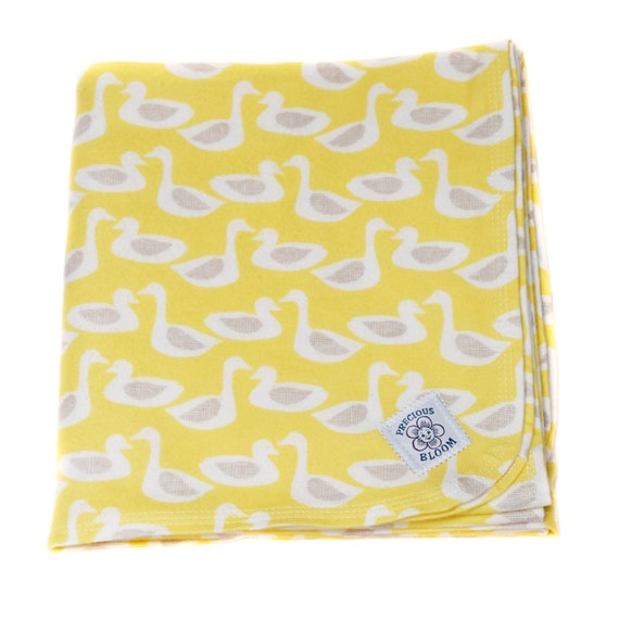 Organic Receiving Blanket, Certified Organic Cotton Flannel Swaddling Blanket, Personalized Swaddling Blanket, Organic Baby Shower Gift