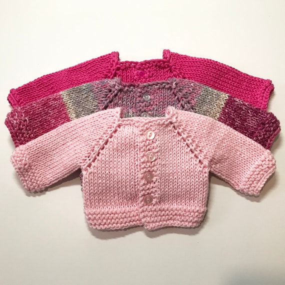 """Hand-Made Cotton Raglan-sleeved Sweaters for American Girl and Other 18"""" Dolls"""