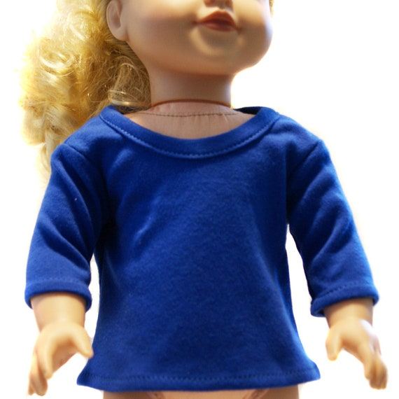 "American Girl Doll Clothes - Doll Clothing - Girl Gift - Cotton 3/4-Sleeve Round-Neck T-shirts (Shirts) for 18"" Dolls. A123"