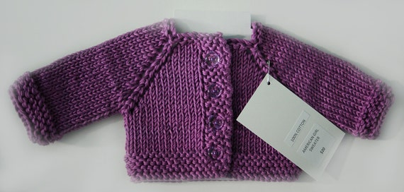 Hand-Knit Raglan-Sleeve Cotton Sweaters for American Girl and other 18-inch Dolls