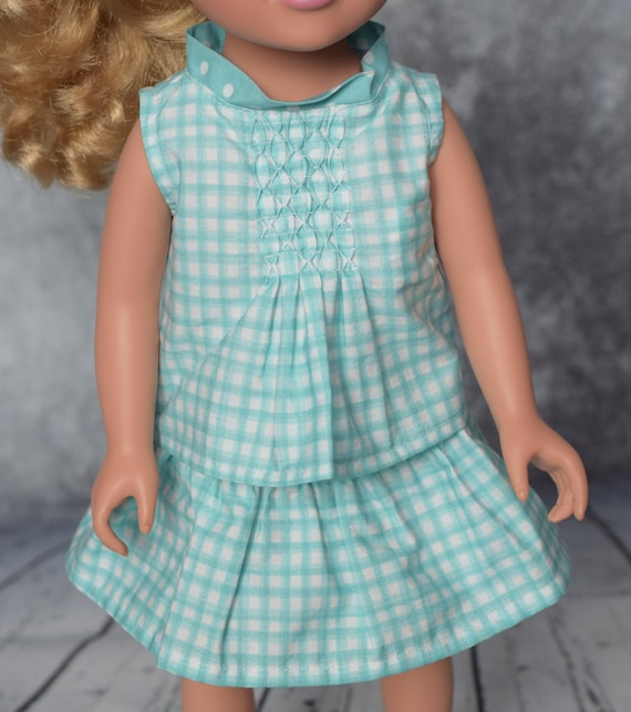 "American Girl Doll Clothing - Organic Doll Clothing - Girl Gift - Organic Cotton Full Skirt for 18"" Dolls. A122"