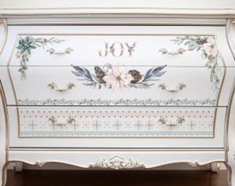 Sparkle and Joy  - ReDesign with Prima Decor Transfer
